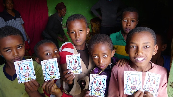 """RAE stickers in Ethiopia"""