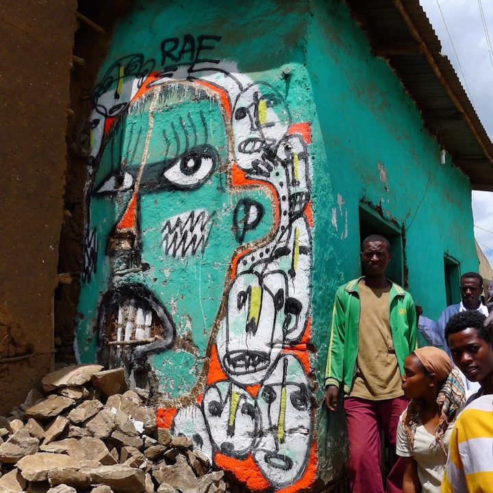 RAE street art Ethipia Africa Brooklyn based RAE Is Back from Africa