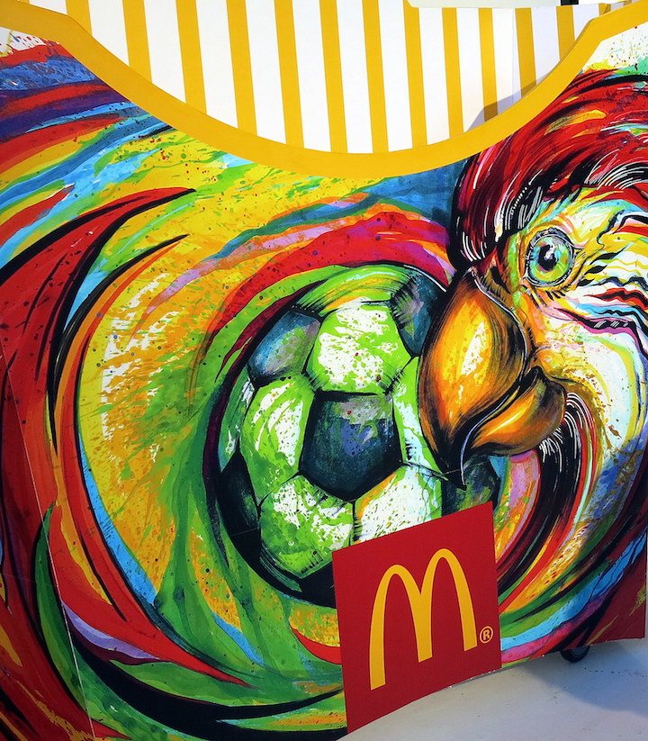 Hua Tunan World of Victory Design for McDonalds and the World Cup McDonalds World Cup Launch Party Features Live Art by UK based Ben Mosley and more