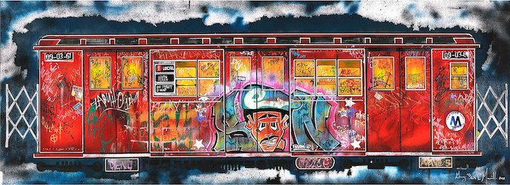 Sen-One-NYC-subway-train-on-canvas