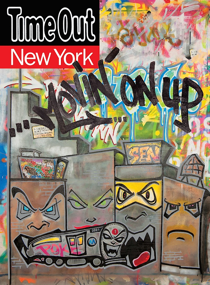 Legendary Graffiti Artist SEN One Designs Cover for TIME OUT NEW YORK