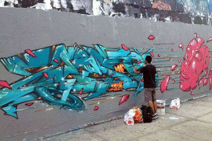 Zeso graffiti and Import Up in Inwood with Crane, Zeso, 1port and Just WF