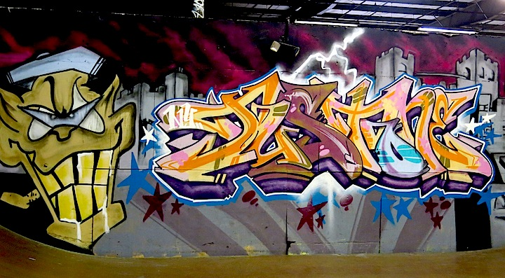 Just One graffiti Long Islands Oil City Skate Park Transformed into Graffiti Wonderland with: Zeso, Shiro, Yes1, Soir 2, Skize, Hoacs, Just, Zimer and more