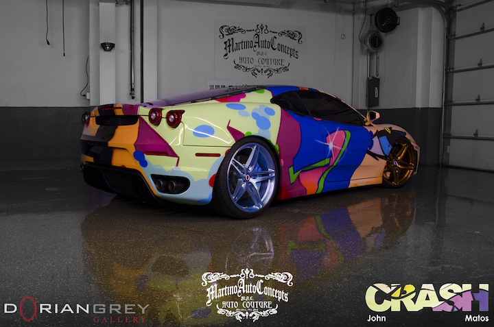 Matos art on Ferrari The Legendary John Matos aka Crash    on the Streets, on Exhibit and on Ferrari Cars