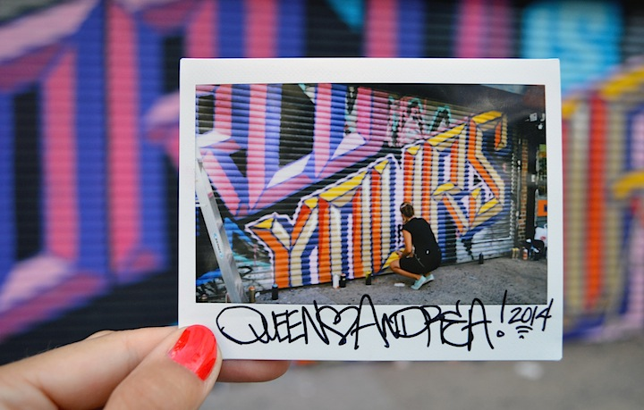 "Queen Andrea graffiti NYC Leanna Valente on Graffiti, Photography, ""Instant Art Exposure"" & more with: Buff Monster, Veng RWK, Hoacs, QA and Rubin &  Joe Iurato"