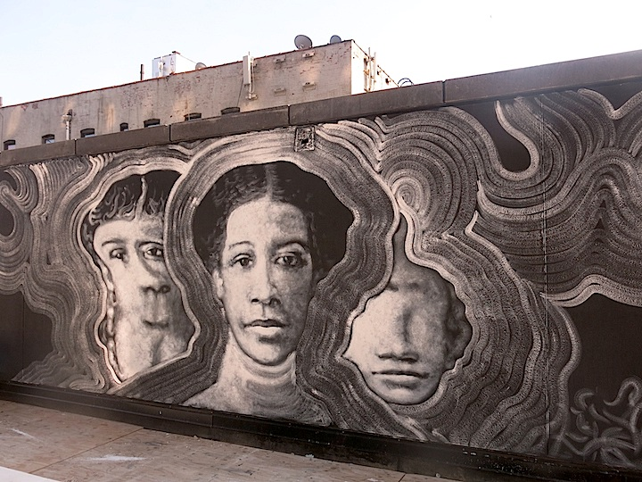Raul Ayala mural no longer empty No Longer Empty Brings If You Build It to Sugar Hill, Harlem with Rául Ayala, Moses Ros Suárez, Carlos Mare, Radcliffe Bailey, Scherezade García, Brendan Jamison & Mark Revels and more
