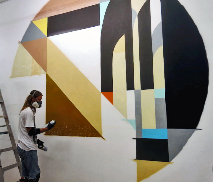 Rubin415 paints abstract graffiiti gallery nine5 to Host Group Ink Block Party This Evening with Tats Cru, Vor138, Bisco Smith, Shiro, Ket and Rubin415