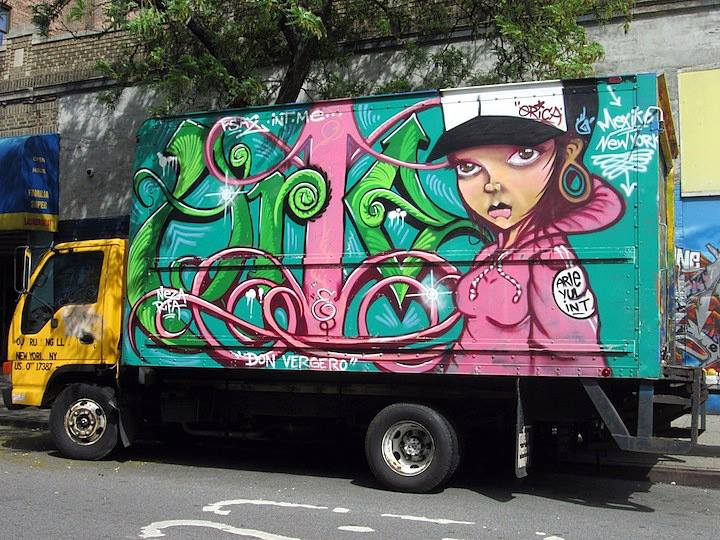 Erica graffiti truck NYC NYC's Stylish Trucks & Vans, Part IX: Erica, Cern, Mast, Uta, Urban Animal, Gano and Zeso