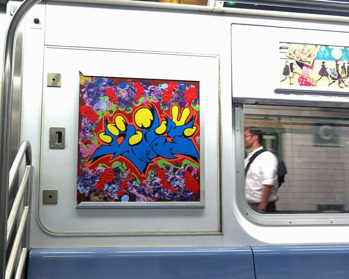 Nic707 graffiti wildstyle on train InstaFame Phantom Art Brings Back Graffiti to NYC Trains with Nic707, Kingbee, Pulse, Yes One, Praxis, Meres and Tony164