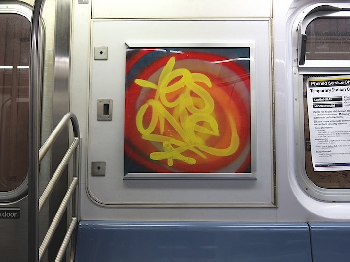 Yes one graffiti subway NYC InstaFame Phantom Art Brings Back Graffiti to NYC Trains with Nic707, Kingbee, Pulse, Yes One, Praxis, Meres and Tony164