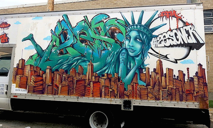 Zeso graffiti truck NYC 2 NYC's Stylish Trucks & Vans, Part IX: Erica, Cern, Mast, Uta, Urban Animal, Gano and Zeso