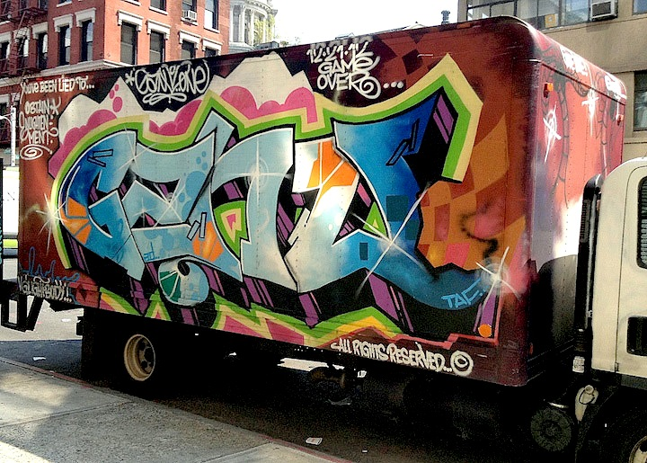 gano graffiti truck NYC NYC's Stylish Trucks & Vans, Part IX: Erica, Cern, Mast, Uta, Urban Animal, Gano and Zeso