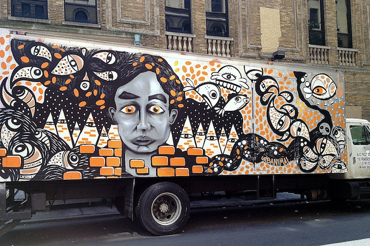 urban animal art truck NYC NYC's Stylish Trucks & Vans, Part IX: Erica, Cern, Mast, Uta, Urban Animal, Gano and Zeso