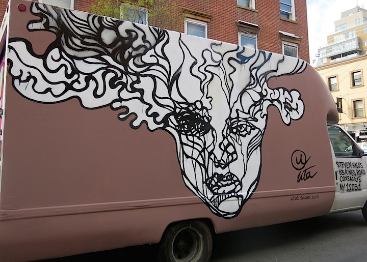 uta graffiti truck NYC NYC's Stylish Trucks & Vans, Part IX: Erica, Cern, Mast, Uta, Urban Animal, Gano and Zeso
