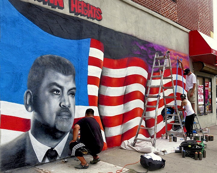 5Pointz artists paint 9 11 Commemorative wall 5Pointz Artists Paint 9/11 Commemorative Mural in Crown Heights, BK