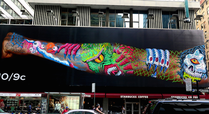 Lamour Supreme Lamour Supreme and Sheryo & the Yok Go Big for Ink Master Rivals on Broadway in Midtown Manhattan