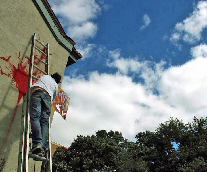 Nic Walker stencil street art Uonkers NY Stencil Art Master Nick Walker Kicks Off Yonkers Mural Project