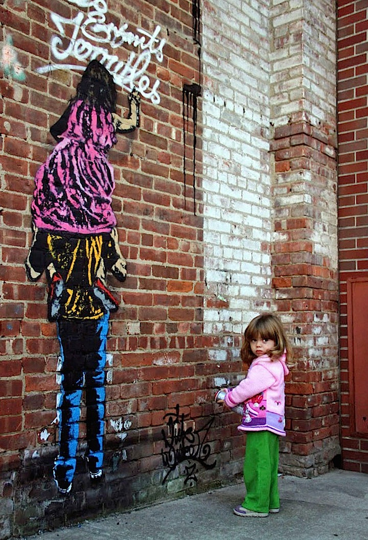 Nick-Walker-stencil-art-with child-yonkers-NY