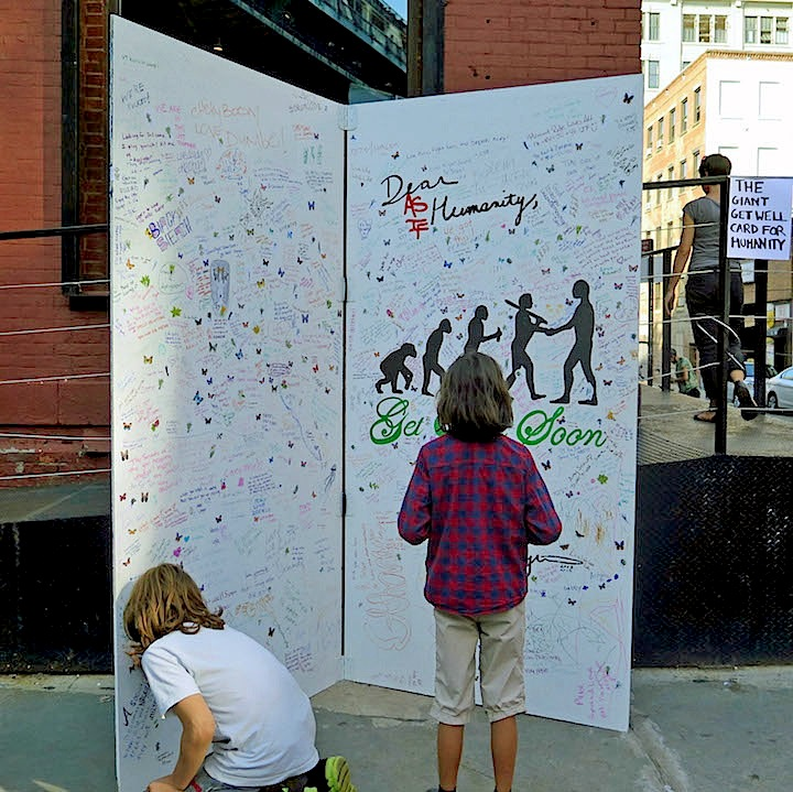 The Giant Get Well Card for Humanity DUMBO Arts Festival: A Model of Community Engagement