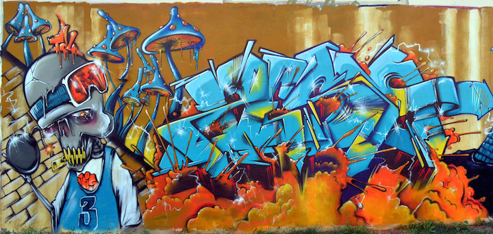 Zeso graffiti NYC Speaking with Zeso