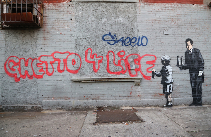 Banksy Ghetto 4 life Banksy in New York: Writer and Photographer Ray Mock Chronicles Banksys New York Residency