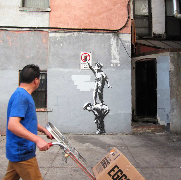 Banksy Graffiti is a crime Banksy in New York: Writer and Photographer Ray Mock Chronicles Banksys New York Residency