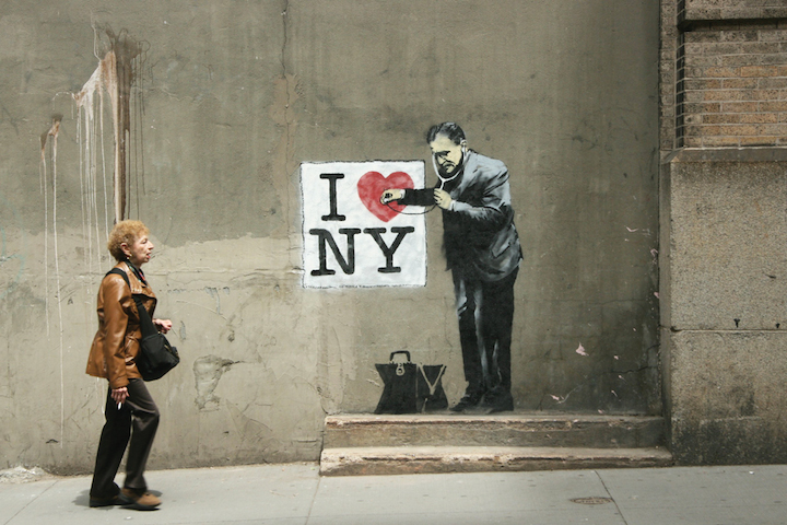 Banksy I love NY Banksy in New York: Writer and Photographer Ray Mock Chronicles Banksys New York Residency