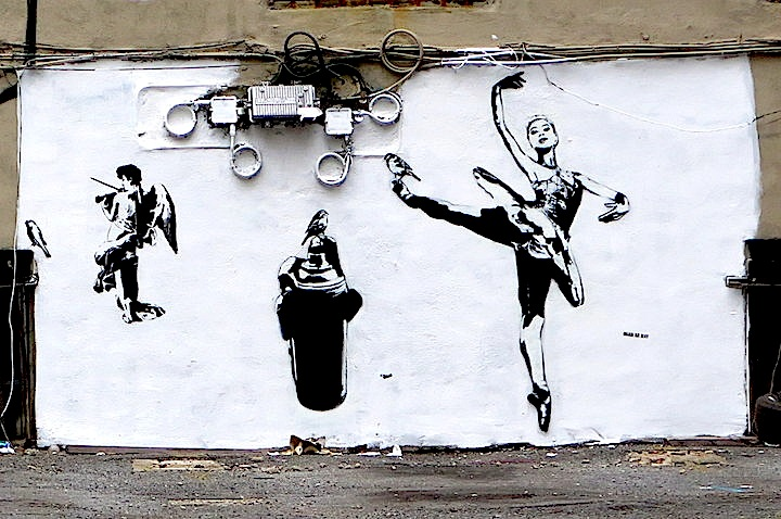 Blek le rat in Little Italy Stencil Art Pioneer Blek Le Rat at the Quin and on NYC Streets