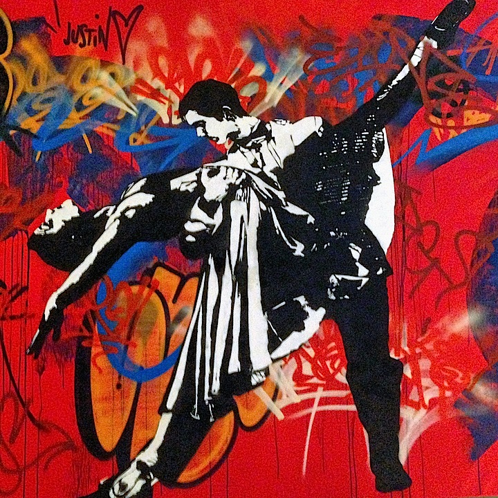 Blek le rat stencil art graffiti Stencil Art Pioneer Blek Le Rat at the Quin and on NYC Streets