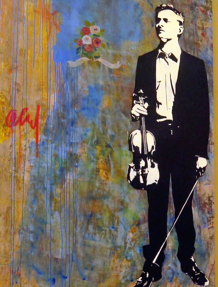 Blek le rat stencil arton canvas Stencil Art Pioneer Blek Le Rat at the Quin and on NYC Streets