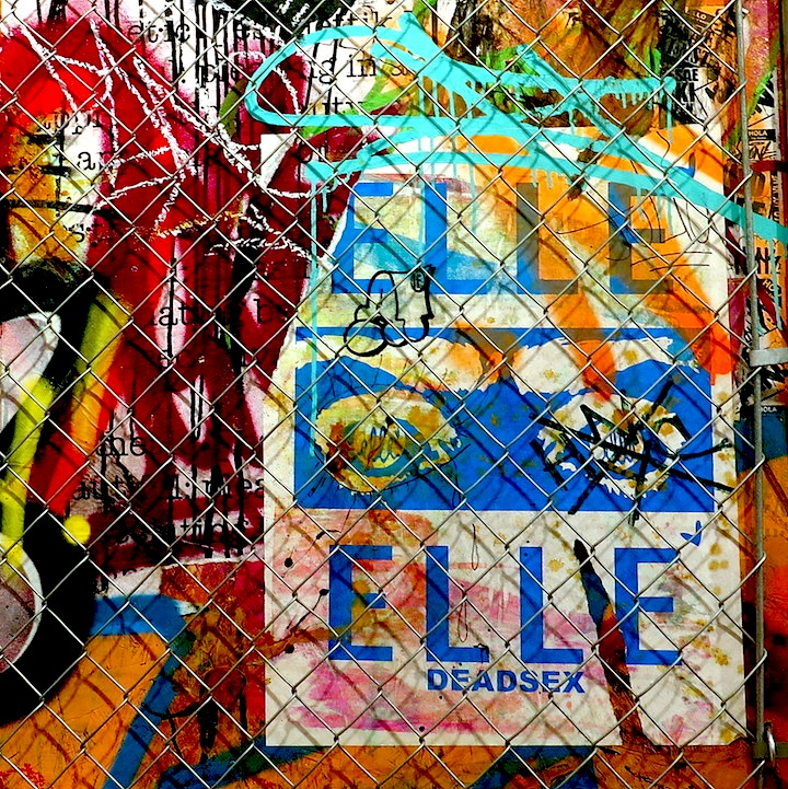 Fenced In graffiti close up  Pop International Galleries Showcases UR New Yorks New Works in Product of UR Environment