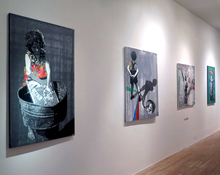 Kurarin Chelsea Gallery French Stencil Artist Kurar at Chelsea's Artemisia Gallery through 10.21