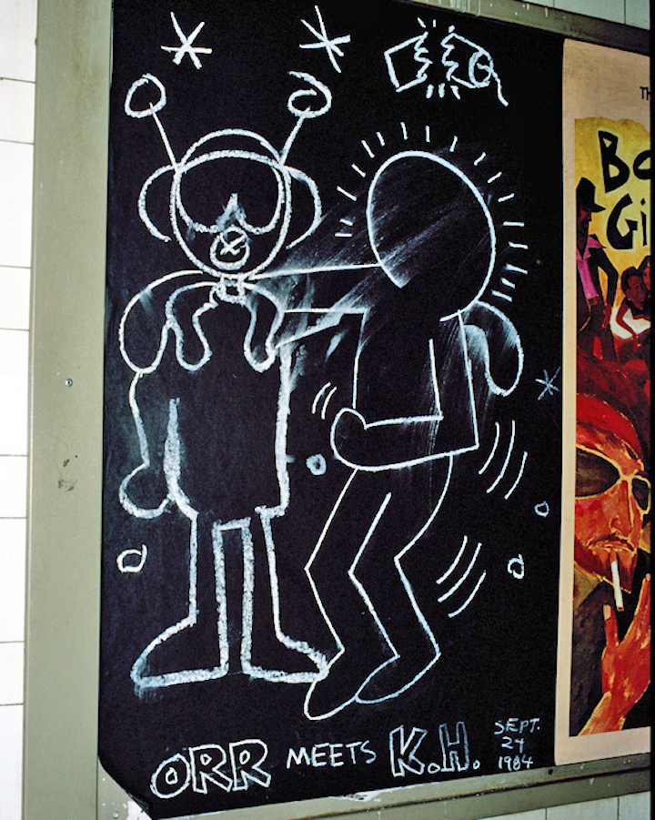 Orr meets Keith Haring NYC subway graffiti character Eric Orr on Graffiti, Keith Haring, Hip Hop, the South Bronx, Comic Art, the New York Comic Con and more