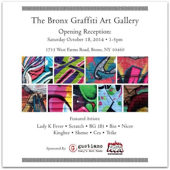 The Bronx Graffiti Art Gallery1 The Bronx Graffiti Art Gallery to Open Tomorrow with Tats Cru, Ces, Kingbee, Lady K Fever, Scratch and more