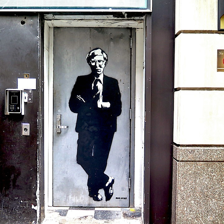 blek le rat street art NYC Stencil Art Pioneer Blek Le Rat at the Quin and on NYC Streets