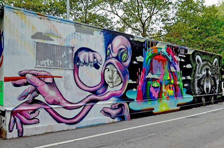 Groovy Centre-fuge Public Art Project — Cycle 15 in Manhattan's East Village KY51