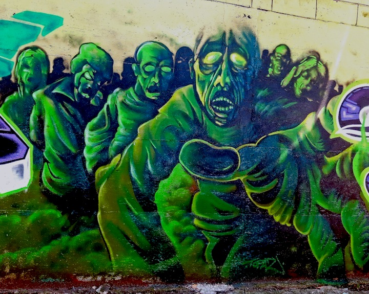 pazroc graffiti nyc In East New York, Brooklyn: Nicole Palapoli, Bugn, Rez, Meres, Sek3, Topaz, Lites, Jerms and Adam Fu