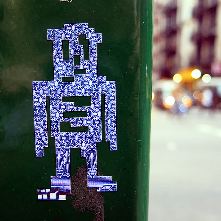 stikman sticker street art NYC Our Beloved stikman Invades Little Italy