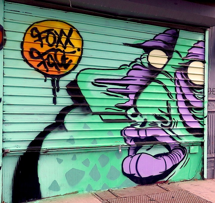Foxxface street art nyc NYC Shutters – Part VII: Elle, Foxxface, Biark, Caratoes, Claw Money & Lexi Bella, Madsteez, UR New York and Queen Andrea