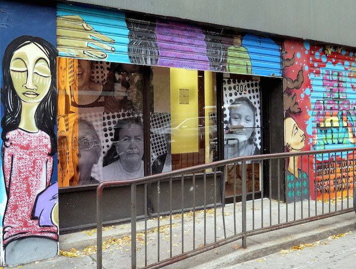 Hi Arts alice Mizrachi JR street art  Hi ARTS Presents JRs Inside Out Mi Gente / Oyáte kiŋ Photo Art Project    opening this evening in East Harlem