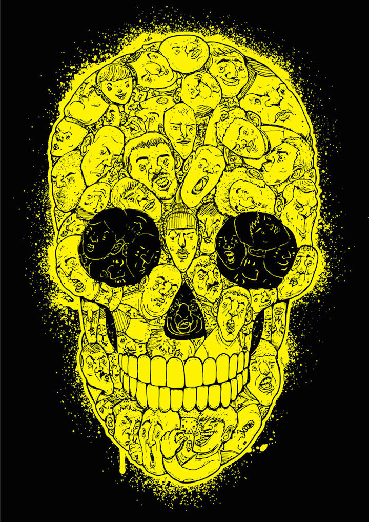 Mike watt sticker skull  Stickerbomb Features over 180 Skull Stickers from across the Globe