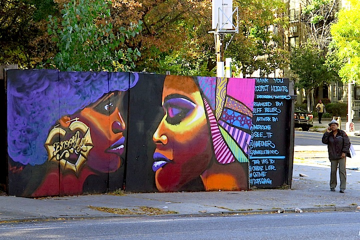 danielle mastrion mural art NYC In Prospect Heights, Brooklyn: Meres, See TF, NME & Danielle Mastrion