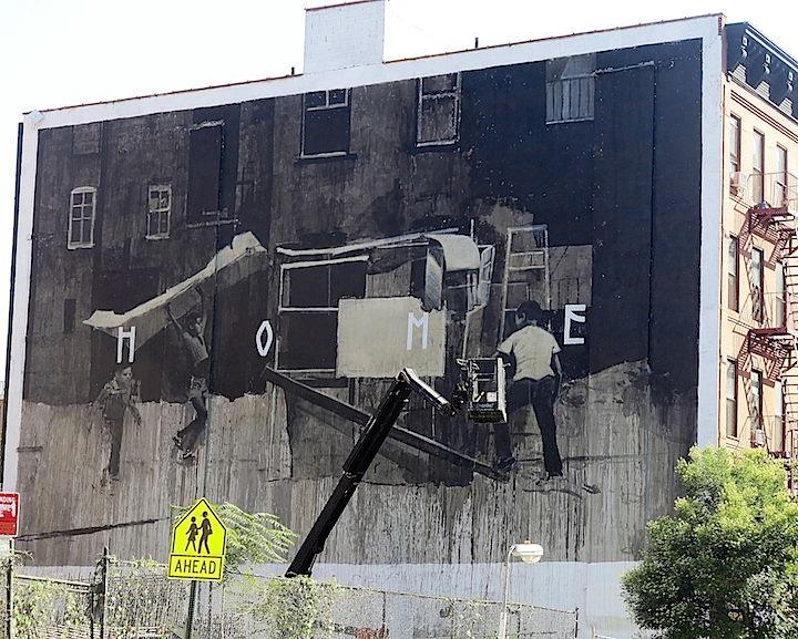 Axel Void street art East Harlem Kids on Walls — Part VI: Jerkface, Axel Void, Billy Mode & Chris Stain, Damien Mitchell, Enzo & Nio, Banksy, Jef Aerosol and Razo & Dead Rat