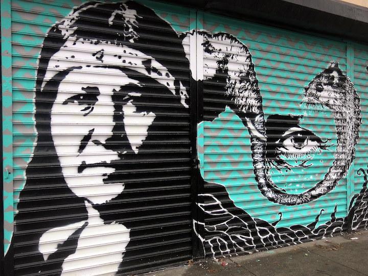Crisp street art shutter NYC Speaking with Bogota Based Australian Artist CRISP in NYC
