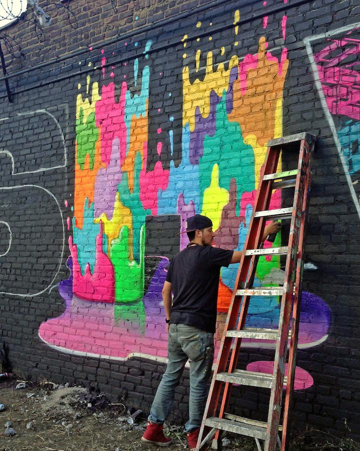 Dasic fernandez paints street art bushwick collective nyc B U S H W I C K: Spelling It Out at the Bushwick Collective: Sexer, June1, Sheryo & the Yok, Dasic, Billy Mode, Eelco, Crash and Zimad