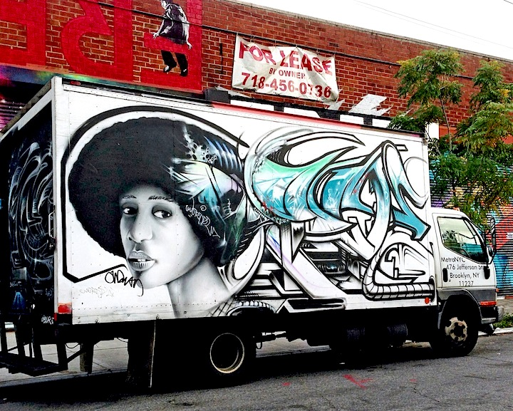 NME graffiti truck nyc NYC's Stylish Trucks & Vans – from the Whimsical to the Wild, Part X: DALeast, Icy & Sot, NME, Cruz, Keo & Trim, Urbanimal, Pase & BG183