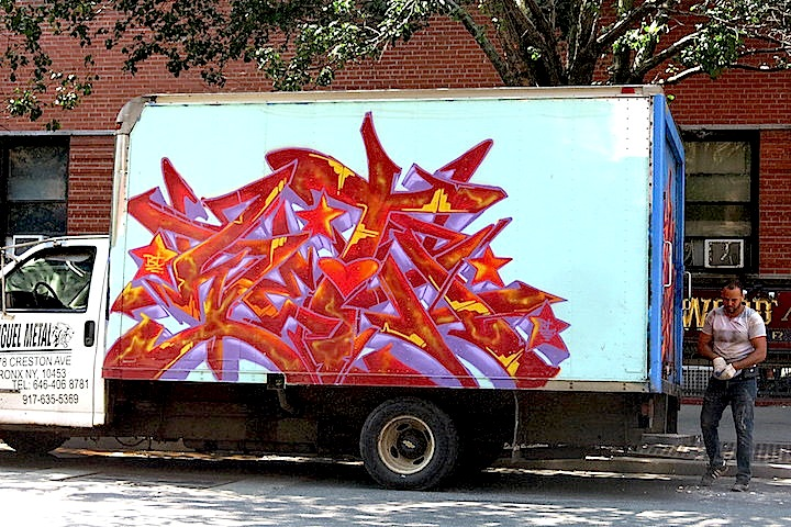 Pace graffiti truck NYC NYC's Stylish Trucks & Vans – from the Whimsical to the Wild, Part X: DALeast, Icy & Sot, NME, Cruz, Keo & Trim, Urbanimal, Pase & BG183