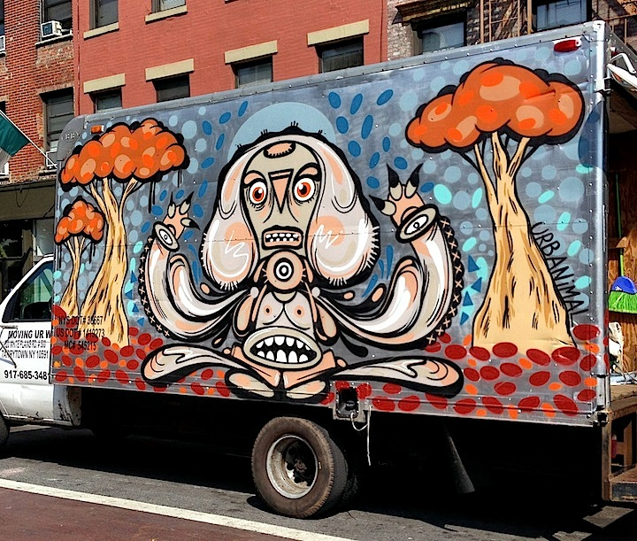 Urbanimal truck art NYC NYC's Stylish Trucks & Vans – from the Whimsical to the Wild, Part X: DALeast, Icy & Sot, NME, Cruz, Keo & Trim, Urbanimal, Pase & BG183
