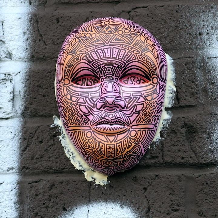crisp mask Williamsburg NYC street art Speaking with Bogota Based Australian Artist CRISP in NYC