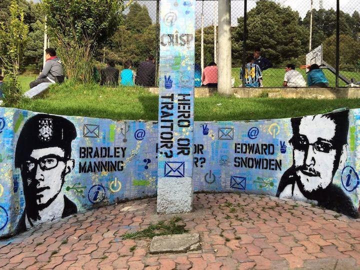 crisp political stencil street art Speaking with Bogota Based Australian Artist CRISP in NYC